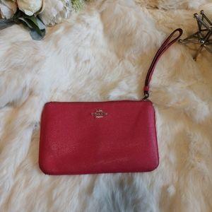 Coach hot pink small wallet bag *see description*